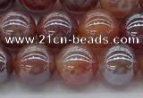 CAA3502 15.5 inches 8mm round AB-color fire agate beads wholesale