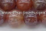 CAA3504 15.5 inches 12mm round AB-color fire agate beads wholesale