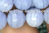 CAA3561 15.5 inches 10mm faceted round blue lace agate beads