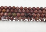 CAA3630 15.5 inches 8mm faceted round Portuguese agate beads