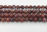 CAA3631 15.5 inches 10mm faceted round Portuguese agate beads