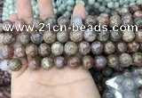 CAG3637 15.5 inches 6mm round flower agate beads wholesale