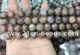 CAA3638 15.5 inches 8mm round flower agate beads wholesale