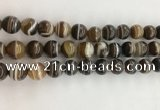 CAA3801 15.5 inches 10mm round line agate beads wholesale