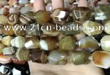 CAA3822 13*17mm - 18*22mm faceted nuggets line agate beads