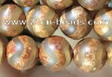 CAA3855 15 inches 8mm round tibetan agate beads wholesale