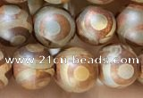 CAA3856 15 inches 8mm round tibetan agate beads wholesale