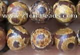 CAA3861 15 inches 8mm round tibetan agate beads wholesale