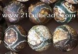 CAA3871 15 inches 8mm round tibetan agate beads wholesale