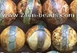 CAA3876 15 inches 8mm round tibetan agate beads wholesale