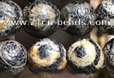 CAA3885 15 inches 8mm round tibetan agate beads wholesale