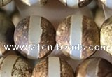 CAA3890 15 inches 10mm round tibetan agate beads wholesale