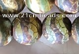 CAA3899 15 inches 10mm round tibetan agate beads wholesale