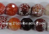 CAA390 15.5 inches 20mm faceted round fire crackle agate beads