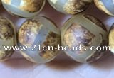 CAA3912 15 inches 10mm round tibetan agate beads wholesale