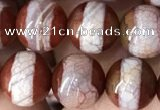 CAA3931 15 inches 8mm round tibetan agate beads wholesale