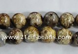 CAA395 15.5 inches 12mm round fire crackle agate beads wholesale