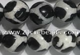 CAA3986 15 inches 8mm round tibetan agate beads wholesale