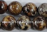CAA399 15.5 inches 20mm round fire crackle agate beads wholesale