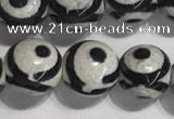 CAA3991 15 inches 8mm round tibetan agate beads wholesale