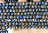 CAA4009 15.5 inches 6mm round blue crazy lace agate beads