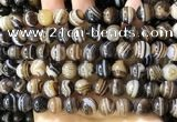 CAA4020 15.5 inches 10mm round line agate beads wholesale