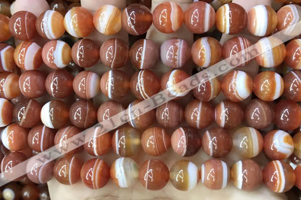 CAA4028 15.5 inches 10mm round line agate beads wholesale