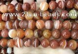 CAA4029 15.5 inches 12mm round line agate beads wholesale
