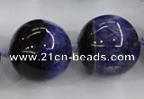 CAA408 15.5 inches 24mm round agate druzy geode gemstone beads
