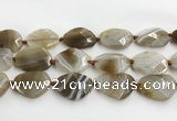 CAA4080 15.5 inches 22*30mm - 26*32mm faceted freeform line agate beads