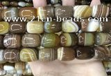 CAA4155 15.5 inches 15*20mm drum line agate beads wholesale