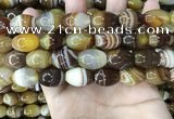 CAA4161 15.5 inches 13*18mm rice line agate beads wholesale