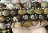 CAA4162 15.5 inches 15*20mm rice line agate beads wholesale