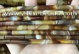 CAA4177 15.5 inches 5*24mm tube line agate beads wholesale