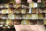 CAA4188 15.5 inches 15*20mm drum line agate gemstone beads