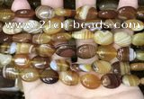 CAA4212 15.5 inches 12*16mm oval line agate beads wholesale