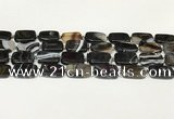 CAA4398 15.5 inches 15*20mm rectangle black banded agate beads