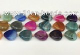 CAA4410 15.5 inches 20*20mm flat teardrop agate druzy geode beads