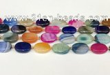 CAA4414 15.5 inches 15*20mm oval agate druzy geode beads