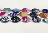 CAA4416 15.5 inches 18*25mm oval agate druzy geode beads