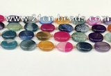 CAA4426 15.5 inches 15*20mm oval agate druzy geode beads