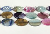 CAA4433 15.5 inches 25*35mm oval agate druzy geode beads
