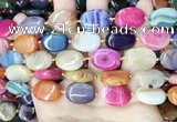 CAA4446 15.5 inches 15*20mm oval dragon veins agate beads