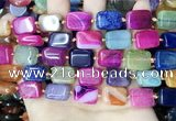 CAA4447 15.5 inches 12*16mm rectangle dragon veins agate beads