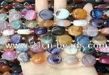 CAA4461 15.5 inches 12*16mm oval dragon veins agate beads