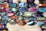 CAA4463 15.5 inches 13*20mm oval dragon veins agate beads