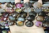 CAA4465 15.5 inches 15*20mm oval dragon veins agate beads