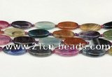 CAA4514 15.5 inches 15*30mm oval dragon veins agate beads