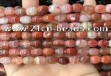 CAA4567 15.5 inches 7*10mm - 8*11mm rice south red agate beads