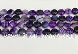 CAA4589 15.5 inches 12mm flat round banded agate beads wholesale